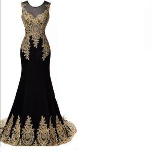 Grace Karin prom mermaid ball gown formal 16 black